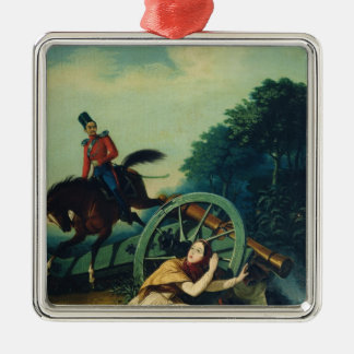 Scene from the 1812 Franco-Russian War, 1830s Metal Ornament