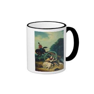 Scene from the 1812 Franco-Russian War, 1830s Ringer Coffee Mug