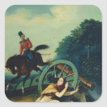 Scene from the 1812 Franco-Russian War, 1830s Square Sticker