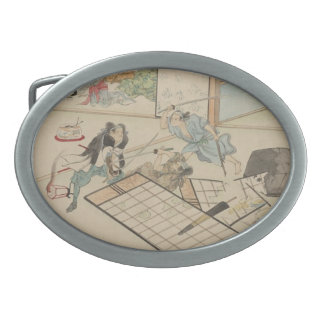 """Scene from the """"47 Ronin"""" Story circa 1800s Japan Belt Buckle"""