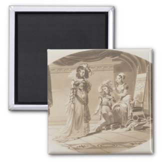 Scene from 'The Abduction from the Seraglio' 2 Inch Square Magnet
