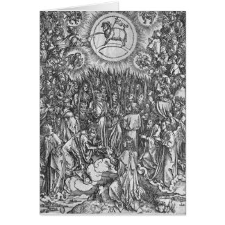 Scene from the Apocalypse, Adoration of the Card