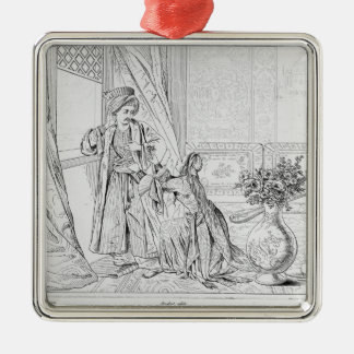 Scene from The Bride of Abydos by Lord Byron Metal Ornament