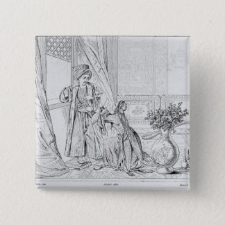 Scene from The Bride of Abydos by Lord Byron Pinback Button