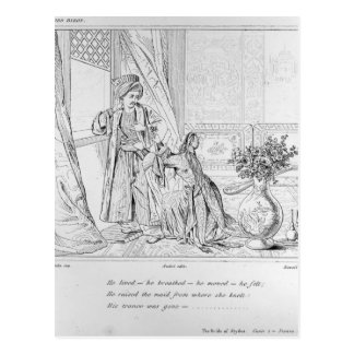 Scene from The Bride of Abydos by Lord Byron Postcard
