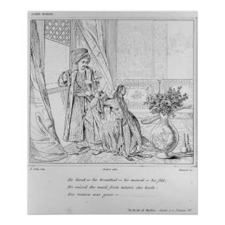 Scene from The Bride of Abydos by Lord Byron Poster