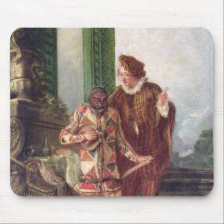 Scene from the Commedia dell'Arte Mouse Pad
