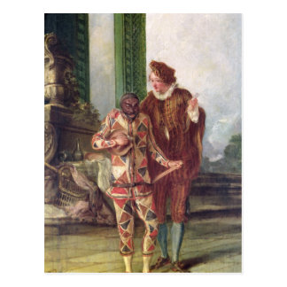 Scene from the Commedia dell'Arte Post Cards