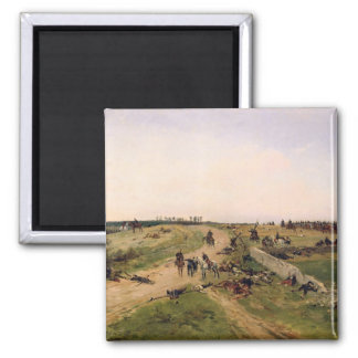 Scene from the Franco-Prussian War 2 Inch Square Magnet