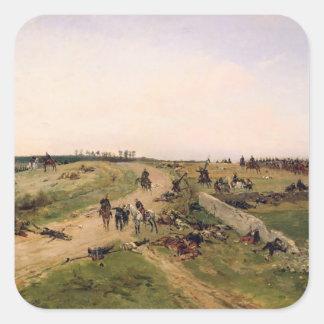 Scene from the Franco-Prussian War Square Sticker