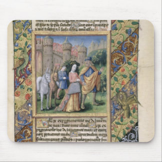Scene from the 'Hours of Louis d'Orleans' Mouse Pad