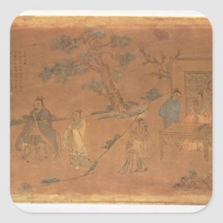 Scene from the life of Confucius Square Sticker