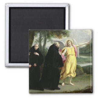 Scene from the Life of St. Benedict 2 Inch Square Magnet