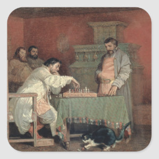 Scene from the Life of the Russian Tsar Square Sticker