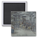 Scene from 'The Magic Flute' 2 Inch Square Magnet