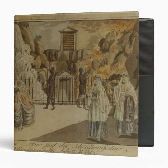 Scene from 'The Magic Flute' by Mozart, 1795 3 Ring Binder