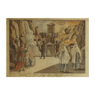 Scene from 'The Magic Flute' by Mozart, 1795 Canvas Prints