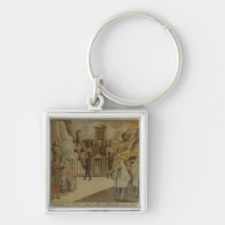 Scene from 'The Magic Flute' by Mozart, 1795 Keychain