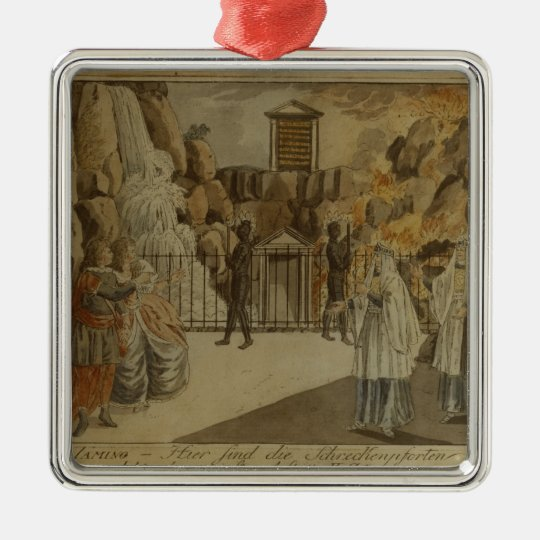 Scene from 'The Magic Flute' by Mozart, 1795 Metal Ornament