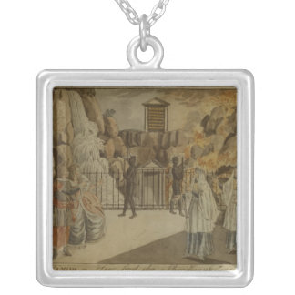 Scene from 'The Magic Flute' by Mozart, 1795 Silver Plated Necklace
