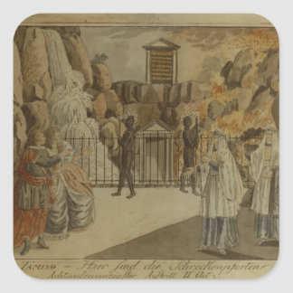 Scene from 'The Magic Flute' by Mozart, 1795 Square Sticker