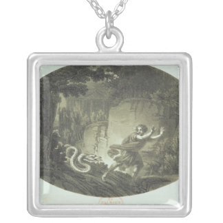 Scene from 'The Magic Flute' by Mozart Square Pendant Necklace