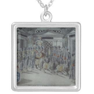 Scene from 'The Magic Flute' Square Pendant Necklace