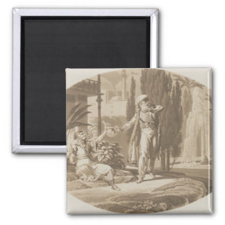 Scene from 'The Marriage of Figaro' 2 Inch Square Magnet