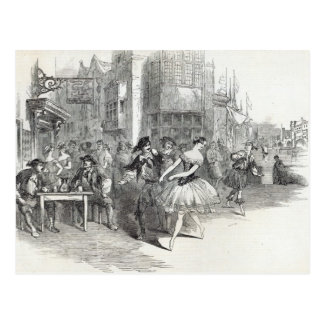 Scene from the new Ballet of 'The Wags of Postcard
