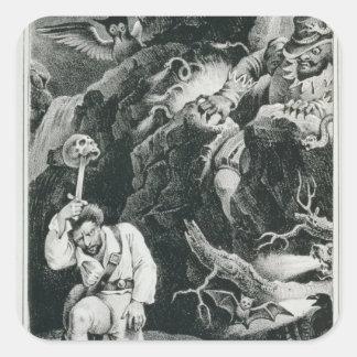 Scene from the opera 'Der Freischutz' Square Sticker