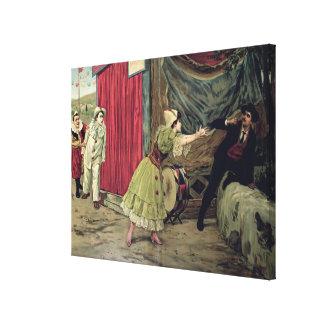 Scene from the opera 'Pagliacci' Canvas Print