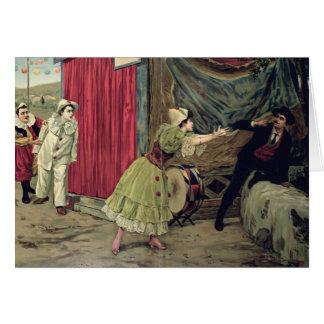 Scene from the opera 'Pagliacci' Card