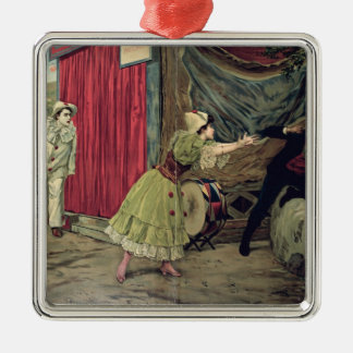Scene from the opera 'Pagliacci' Metal Ornament