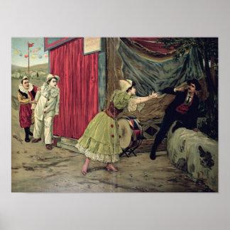 Scene from the opera 'Pagliacci' Poster