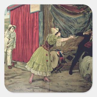 Scene from the opera 'Pagliacci' Square Sticker