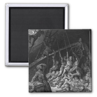 Scene from 'The Rime of the Ancient Mariner' 2 2 Inch Square Magnet