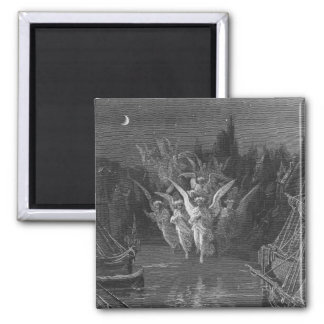 Scene from 'The Rime of the Ancient Mariner' 2 Inch Square Magnet
