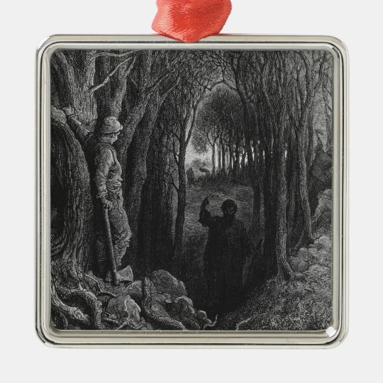 Scene from 'The Rime of the Ancient Mariner' 2 Metal Ornament