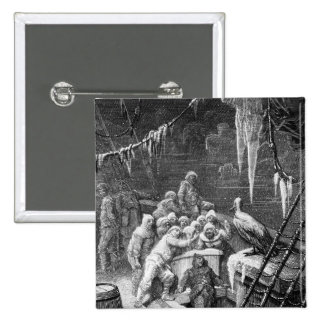 Scene from 'The Rime of the Ancient Mariner' 3 2 Inch Square Button