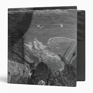 Scene from 'The Rime of the Ancient Mariner' 3 Ring Binder