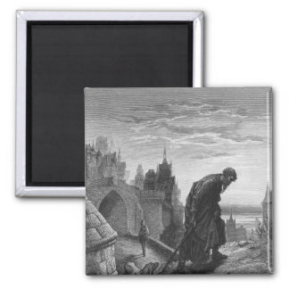 Scene from 'The Rime of the Ancient Mariner' 4 2 Inch Square Magnet
