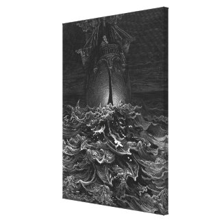 Scene from 'The Rime of the Ancient Mariner' 4 Canvas Print