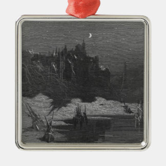 Scene from 'The Rime of the Ancient Mariner' 4 Metal Ornament