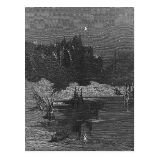 Scene from 'The Rime of the Ancient Mariner' 4 Postcard