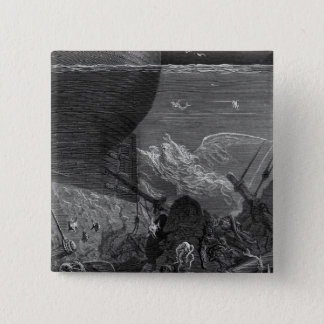 Scene from 'The Rime of the Ancient Mariner' Button
