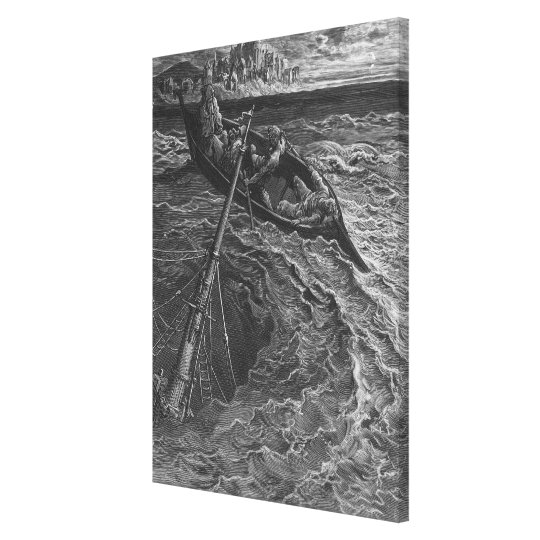 Scene from 'The Rime of the Ancient Mariner' Canvas Print