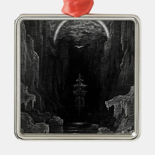 Scene from 'The Rime of the Ancient Mariner' Metal Ornament