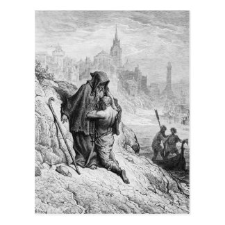 Scene from 'The Rime of the Ancient Mariner' Postcard