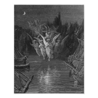 Scene from 'The Rime of the Ancient Mariner' Print