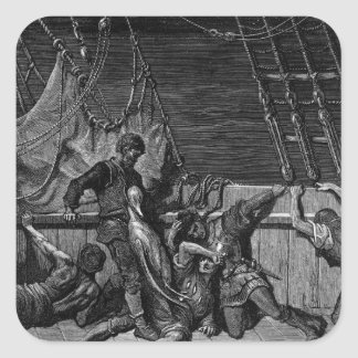 Scene from 'The Rime of the Ancient Mariner' Square Sticker